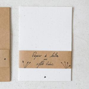 Papier à lettre aux reflets ambrés