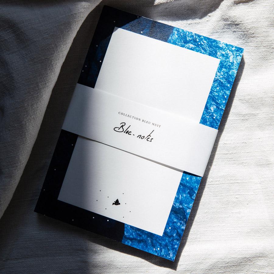 Bloc notes collection Bleu nuit L'oiseau Comète