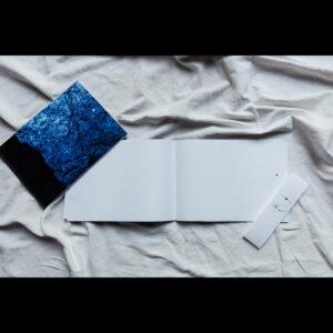 Carnet A4 à l'italienne «Bleu nuit»