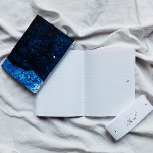 Carnet ligné A5 « Bleu nuit »