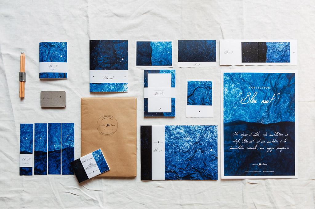Collection Bleu nuit L'oiseau Comète