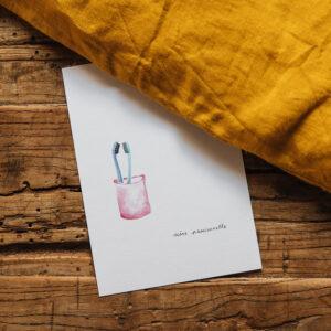 Carte Postale « Scène passionnelle »